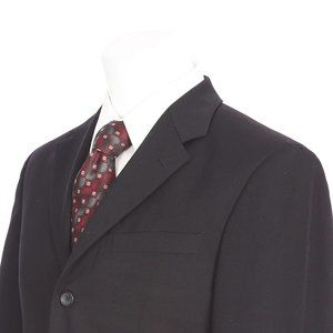 Banana Republic Black Three Button Sport Coat